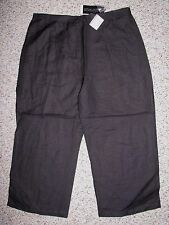 NWT SHERRY TAYLOR WOMEN'S RAMIE/RAYON BLACK CAPRI PANTS LARGE INSEAM 21