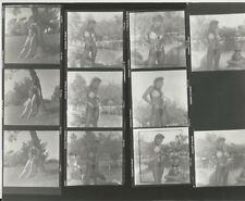 Hendrickson PHOTO Contact Proof Sheet & Negatives Sexy Blonde Models in Park