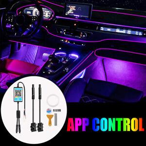 4M RGB LED Car Interior Lamp Decor Ambient Light Strips App Control For BMW