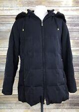 Bromley Sport Coat Women's Large Down Feathers Detachable Fox Fur Hood Parka