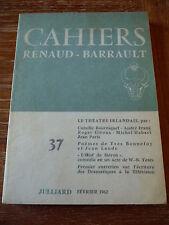 Cahiers de la Compagnie Renaud-Barrault Le Théatre Irlandais Julliard 1962 NEUF
