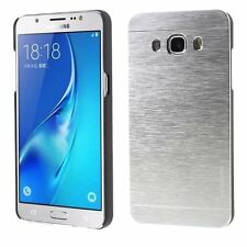 Coque Etui Protection Rigide Luxe Aluminium Argent Silver Samsung Galaxy J3 2016