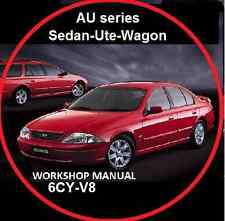 FORD AU FAIRMONT FALCON  XR6 XR8 UTE WAGON SEDAN REPAIR MANUAL CD
