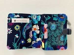 NWT Vera Bradley Iconic RFID Small Wallet Moonlight Garden Compact ID