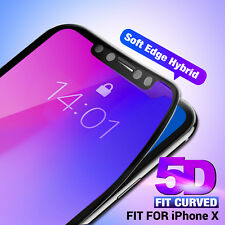 2 X 5D Full Cover TPE Curved iPhone X Tempered Glass Screen Protector for Apple