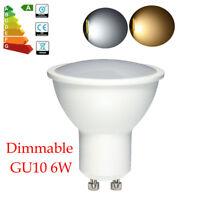 Brillant Dimmable GU10 Ampoule LED 6W Lampe Blanc Froid / chaud = 55W Halogène