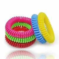 6 x Mosquito Repellent Bracelets Natural Waterproof Spiral Wrist Band