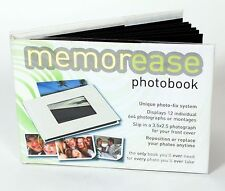 White 6x4 Memorease Photo Album hold 12 photographs reposition sticky pages