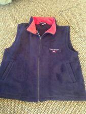 Polo Jeans Co. Ralph Lauren Men's Fleece Vest navy and red Sz M euc