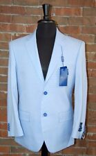 46 S SLIM FIT STUDIO 18  BRAND NEW MENS LIGHT BLUE  2 BUTTON SOLID 2 PIECE SUIT