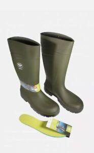 Bekina Steplite Soft Toe Easy GripWellington Boots, Green, Insulated, Sizes 5-12