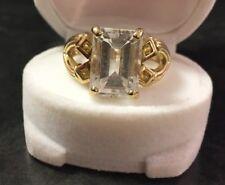 Eckiger Zirkon Zr Zirkonring Baguetteschliff 375er Gold Ring Goldring  Gr. 67