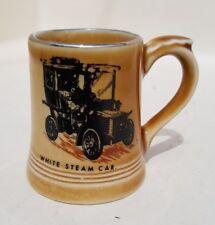 Wade pottery miniature tankard White Steam car Limousine