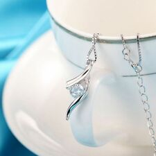 Plated Zircon Time Music Note Sliver Pattern Clavicle Necklace Pendant Jewelry
