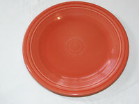 Fiesta Homer Laughlin China Co 10 1/2 inch dinner plate orange to red 1 plate *^