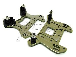 VORZA HP FRONT & REAR TOWERS 67409 67413 shock uprights standoff's  HPI 101850