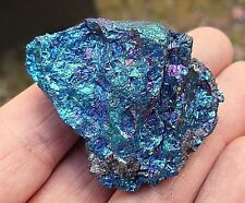 PEACOCK ORE CHALCOPYRITE MEXICO 50mm x 40mm x 20mm 80grms GIFT BAG & ID CARD