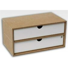 Hobbyzone 2 Drawers Module Crafts Workshop Modular System for Art Tools etc