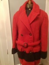 Vintage Hudsons Bay Red Wool Blanket Jacket Coat Mackinaw XL Near Mint