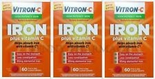 Vitron C Once A Day High Potency Iron & Vitamin C Tablets 60ct ( 3 pack )***