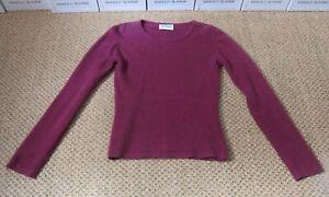 Brora Ladies Scottish Cashmere Sweater Jumper Purple Small 8
