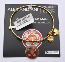 ALEX AND ANI GINGERBREAD MAN CHARM BANGLE BRACELET GOLD FINISH ** SOLD OUT **