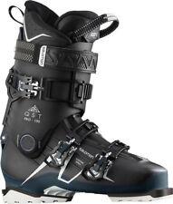 SALOMON QST PRO 100 SKI BOOT IN BLACK/PETROL BLUE SIZE 25/25.5