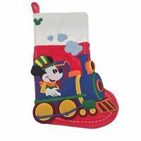 Disney Parks Mickey Mouse Runaway Railway Train Christmas Holiday Stocking