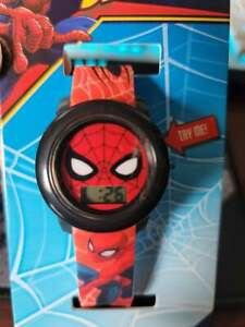 spiderman marvel avengers new LCD FLASHING strap & DIAL WATCH adjustable new
