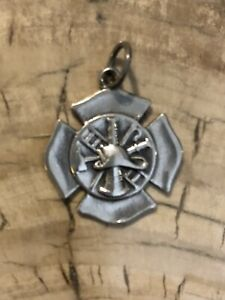 💕James Avery 925 Sterling Silver Firefighter's  Charm Retired 💕