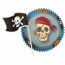 WILTON Pirate Cupcake Combo Pack 5CM 24 SETS