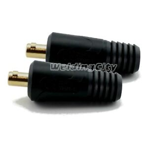 WeldingCity® 2-pk Dinse-type Twist-lock Cable Connector Male 1/0-3/0 50-70mm USA