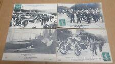 AVIATION PARIS MADRID 1911 enterrement de Berteaux ministre tué 4 cartes