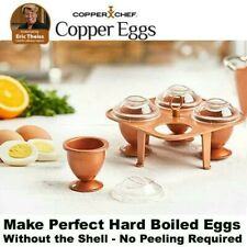 Copper Chef, COPPER EGGS XL. As Seen On TV. Set of 4 copper egg makers & caddy.
