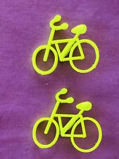 Novelty Yellow Bicycle Button / Lapel Pin / Badge. $5.00 For Each Badge.