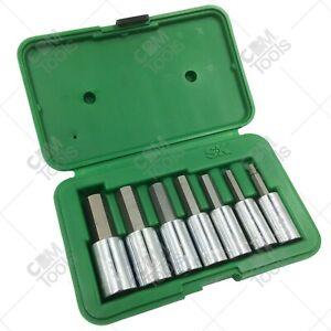 """SK Hand Tools 41427 7pc 1/2"""" Dr. Metric Hex Bit Socket Set"""