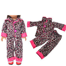 Handmade Leopard Sleepwear Clothes Pants Set For All 18'inch Doll Clothes Chic