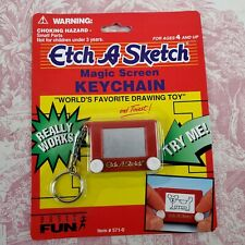 Vintage Mini Etch A Sketch Keychain Collectible