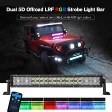 "22""in 280W RGB LED Light Bar Multi Color For Jeep Wrangler JK YJ TJ Offroad 20"