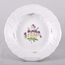 Meissen Blume 1, Neubrandenstein Suppenteller, tiefer Teller, Stiefmütterchen