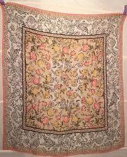 FENDI Tuch carre foulard Seide silk soie BLUMEN VINTAGE CHIFFON