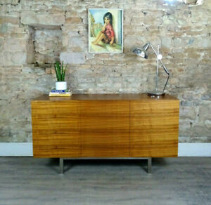 Vintage mid century style ITALIAN modern cherry wood sideboard cabinet DELIVERY