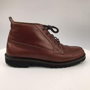 Mens 11 - Vintage Orvis Reddish Brown Leather Chukka Boots Gumlite Vibram Sole