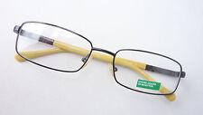 Brille Brillenfassung Benetton schwarz gelb schmale Form Flexbügel frame size M
