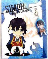 Tengen Toppa Gurren Lagann Simon Fastener Metal Charm Anime Manga Game MINT
