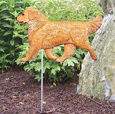 Golden Retriever Outdoor Garden Dog Sign Hand Painted Figure Light