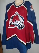 Colorado Avalanche Jersey CCM Red Stitched Sewn Logo Men's xl Canadian Made