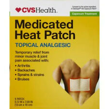 7 BRAND NEW CVS HEALTH MEDICATED HEAT PATCHES 13CM X 18CM EACH EXP 03/2022