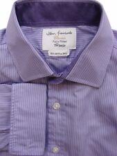 JOHN FRANCOMB TM LEWIN Shirt Mens 15.5 M Purple - Lilac Stripes FULLY FITTED