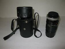 CANON 52MM SKY 1-A LENS WITH VIVITAR MC TELE CONVERTER LENS. HAS CASE.